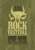 Rock festival design template. — Cтоковый вектор