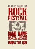 Rock festival design template. — Vettoriale Stock