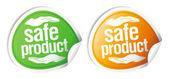 безопасный продукт наклейки. — Cтоковый вектор