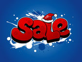 Christmas sale illustration. — Stock Vector