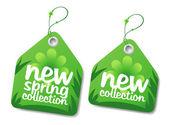 Bahar koleksiyonu etiketleri. — Stok Vektör