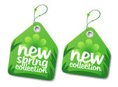 Spring collection labels. — ストックベクタ