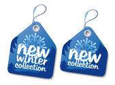 Winter collection labels. — Stock Vector