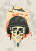 Military design with skull. — Stock Vector