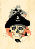 Pirate design with ghost skull. — Stock Vector