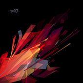 Plantilla de diseño abstracto láser. — Vector de stock