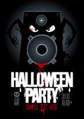Halloween party design template. — Vector de stock
