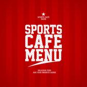 Modelo de cartão de menu de café de esportes. — Vetorial Stock