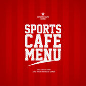 Sports Cafe Menu card template. — Vettoriale Stock