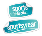 Sportswear collection stickers — Stock Vector