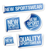 Sportswear collection stickers. — Stock Vector