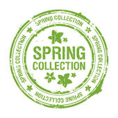 Spring collection stamp — Stock Vector