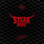 Biftek yemek listesi. — Stok Vektör