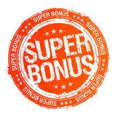 Super bonus stamp. — Stock Vector