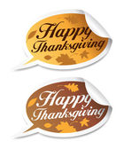 Happy Thanksgiving stickers. — Stock Vector