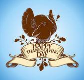Thanksgiving Day card. — Stock Vector