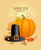 感謝祭のデザイン テンプレート. — ストックベクタ