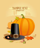 Thanksgiving ontwerpsjabloon. — Stockvector