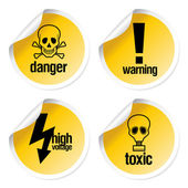 Toxic stickers set — Stock Vector
