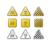 Set of toxic vector icons and stamps — Stock Vector