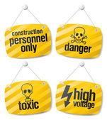 Danger vector signs — Stock Vector