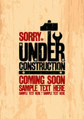 Under construction design. — Vettoriale Stock