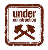 Under construction rubber stamp — Stock Vector