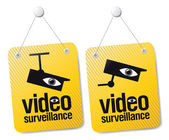 Sinais de vídeo-vigilância. — Vetorial Stock
