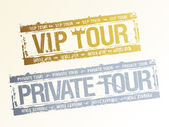 Private VIP tour stamps. — Stock Vector