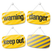 Warning vector signs — Stock Vector