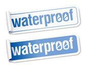 Waterdichte stickers. — Stockvector