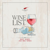 Wine List Menu template. — Stockvector
