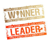 Winner and Leader stamps. — Stock Vector