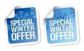 Winter offer stickers. — Stock Vector