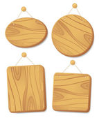 Wooden boards on a cord. — Stock Vector