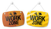 Work zone signs. — Stock Vector