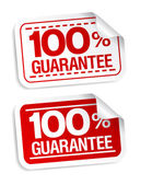 Guarantee stickers. — Stock Vector