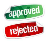 Autocollants approuvés et rejetés — Vecteur