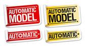 Automatický model samolepky. — Stock vektor