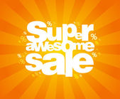 Super sale design template. — Vector de stock