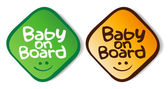 Baby on board stickers. — Stock Vector