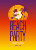 Beach Party design template. — Stock Vector