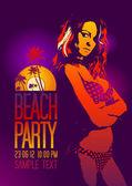 Beach Party design template. — Stock Vector