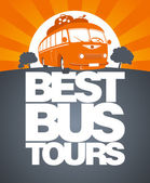 Best bus tour design template. — Cтоковый вектор