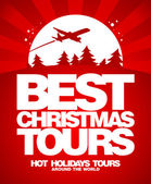 Best Christmas tours design template. — Stock Vector