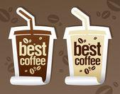 Best coffee stickers. — Stock Vector