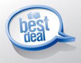Best deal speech bubble. — Stock Vector