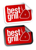 Best grill food stickers. — Stock Vector