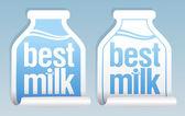 Meilleurs autocollants de lait. — Vecteur