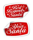 Stickers from Santa — Vector de stock